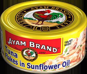 Cá ngừ xé ngâm dầu hướng dương Ayam Brand