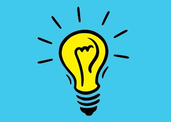 icons blue idea light bulb 250