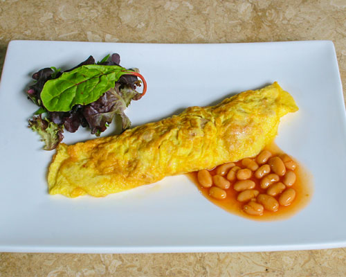 trứng ốp lết cá ngừ