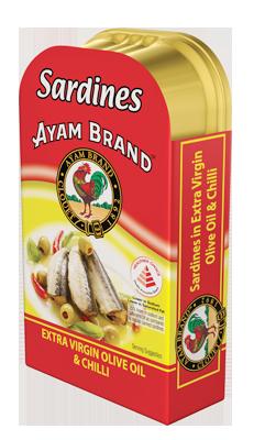Cá trích ngâm dầu olive nguyên chất và ớt