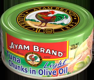 Cá ngừ khúc ngâm dầu olive Ayam Brand